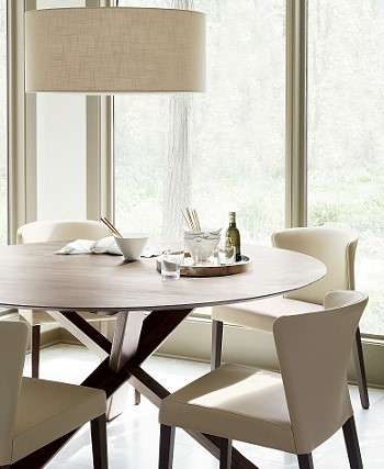 Круглый обеденный стол в интерьере