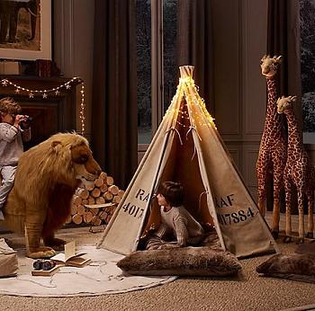 Индейская палатка в детской