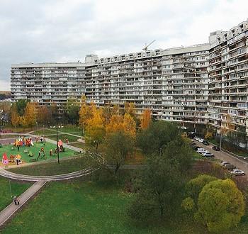 Двор без машин в Северном Чертанове, 1972–1983 гг.