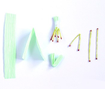 Тычинки из гофрированной бумаги