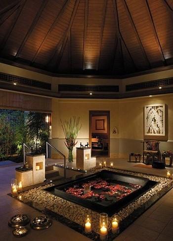 Декорируем ванную комнату для влюбленных