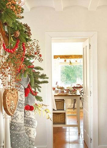 Украшаем дом на рождество