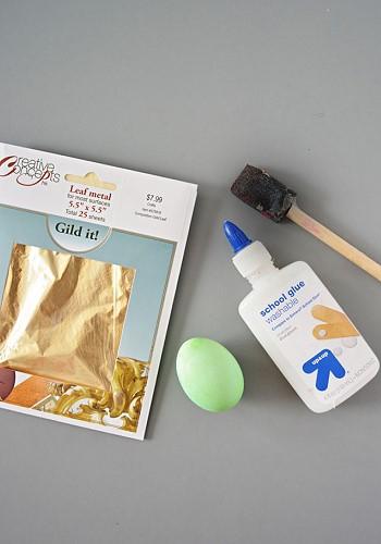 Как сделать яйца золотыми