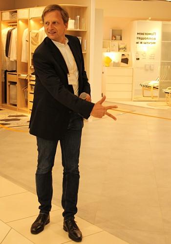 Разрезание ленточки на открытии магазина ИКЕА