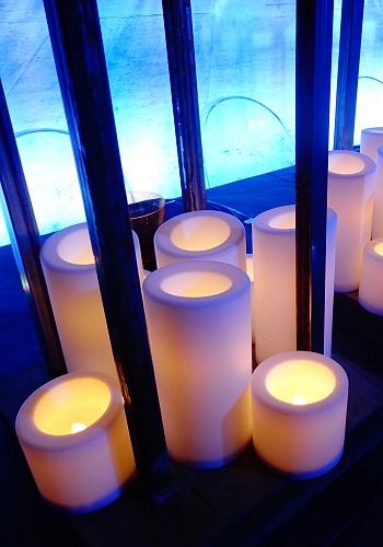 Освещение на гостевом свадебном столе