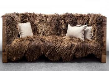 Шерстяной диван