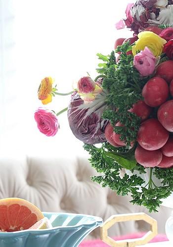 Овощной букет в декоре квартиры