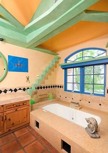 Дизайн ванной комнаты любителя кошек