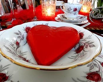 Сервировка сердце