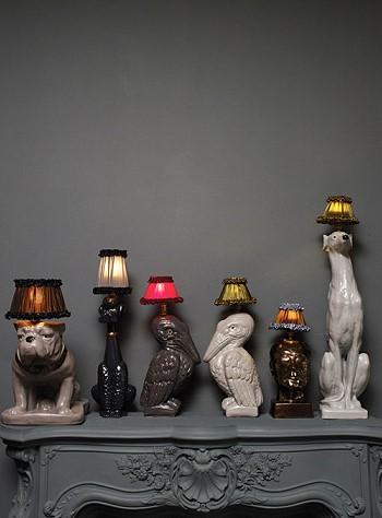 Светильники животные