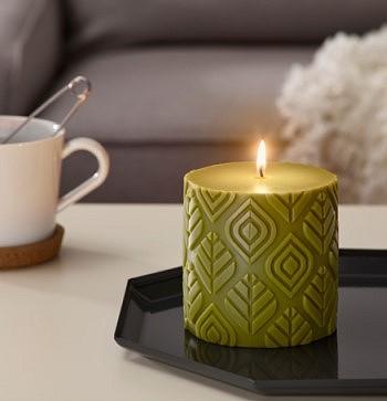Ароматическая свеча с запахом леса