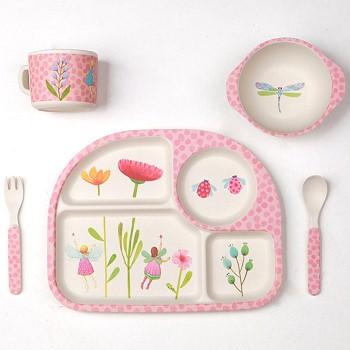 Детская посуда с цветочками