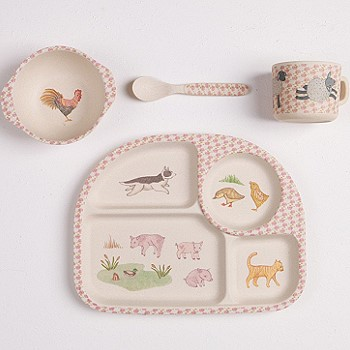 Детская посуда с животными