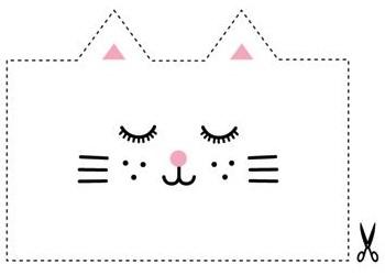 Мордочка кошки. Схема