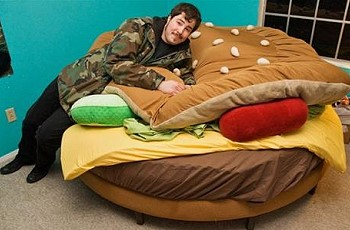 На гамбургере