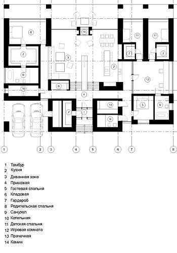 План схема дома