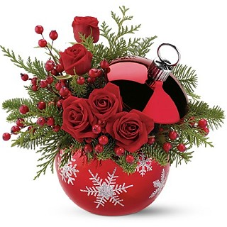Новогодний букет цветов