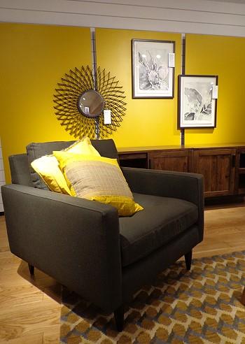 Дизайн в желтом цвете