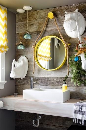 Новогодний декор ванной комнаты