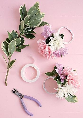 Цветочные кольца для украшения стола