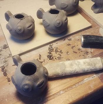 Изготовление цветочных горшков из керамики