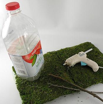 Пластиковая бутылка для декора