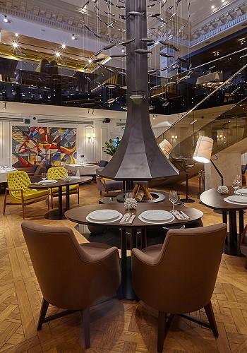 Интерьер рыбного ресторана от дизайнера Анастасии Землянской