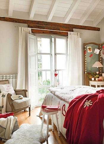 Рождественский декор спальни