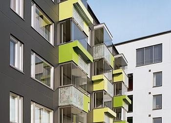 Облицовка фасада жилого дома в Хельсинки