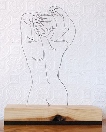 Проволочная скульптура