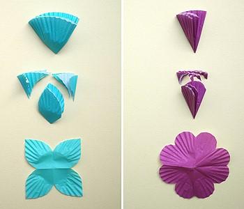 Вырезаем из бумаги лепестки цветов