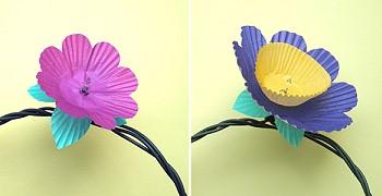 Делаем цветочную гирлянду