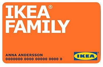 Карта IKEA FAMILY