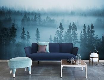 Фотообои туман в лесу