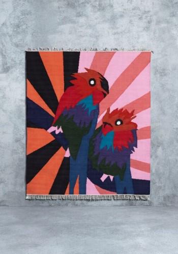 ковер с попугаями