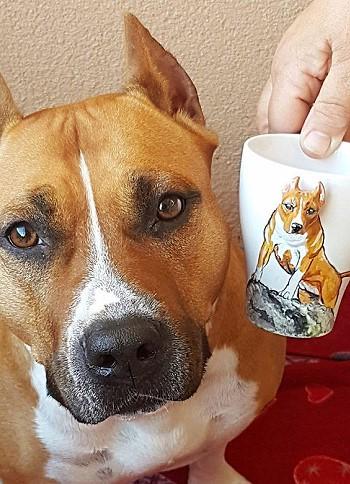 Кружка с изображением собаки