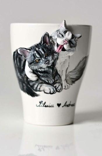 Кружки с изображением кошек