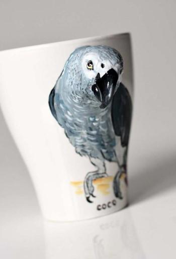 Кружка с попугаем