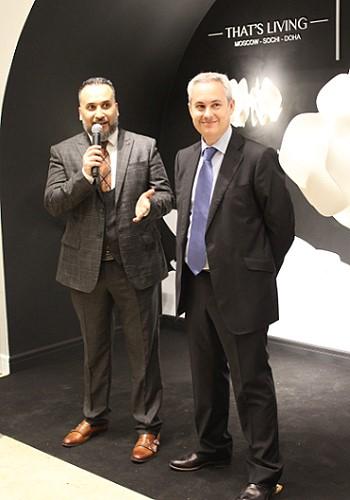 генеральный директор компании That's Living Селим Зергот и коммерческий директор компании Lladro Франциско Cирухеда