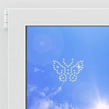 Окно с кристаллами Сваровски