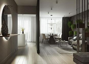 Дизайн двухкомнатной квартиры в Москве