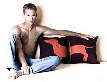 Мужчины рекламируют подушки