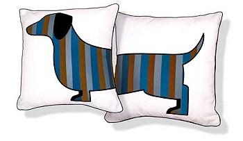 Подушки с изображением собаки