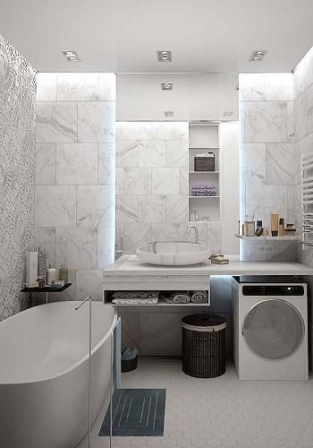 Интерьер ванной комнаты девушки