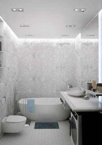 Дизайн совмещенной ванной комнаты для девушки