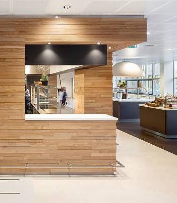 Дизайн столовой в банке