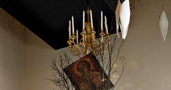 Свечи и икона