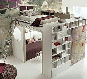 Место для сна в однокомнатной квартире