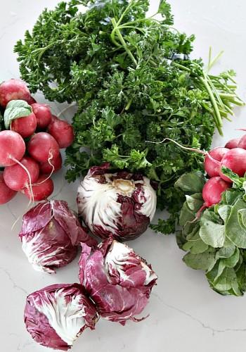 Ингредиенты для овощного букета