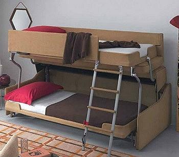 Раскладная двухярусная кровать